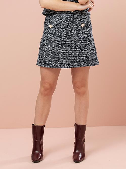 Mini Saia de Tweed de Malha