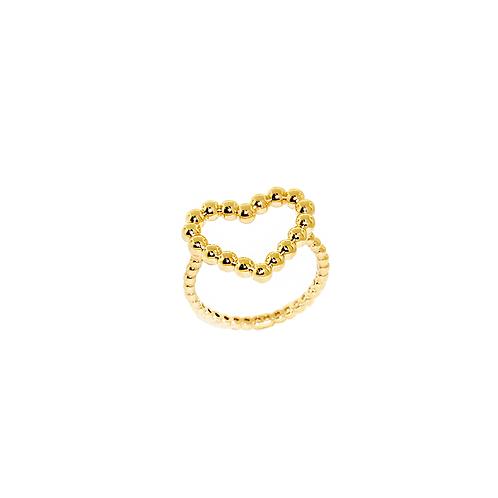 Anel de Ouro Amarelo 18k Coração