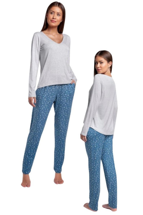Pijama Manga Longa em Visco Comfort