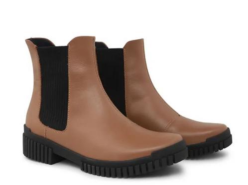 Flexy Boot Com Elástico Camel