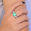 Thumbnail: Anel Gota Verde Fusion Prateado