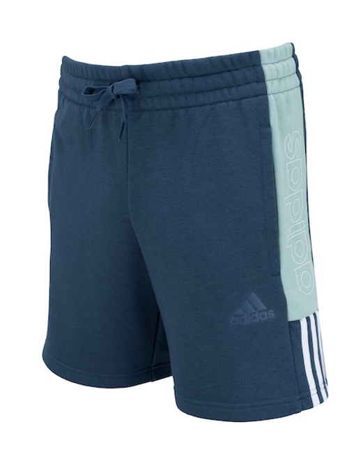 Bermuda Adidas Masculina Casual Color Block Azul Escuro