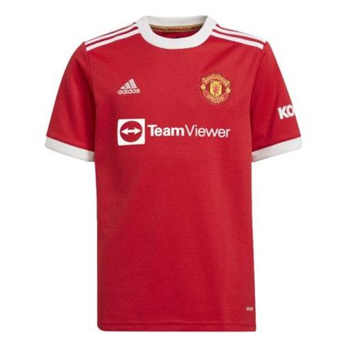 Camisa 1 Manchester United Adidas 21/22 Infantil