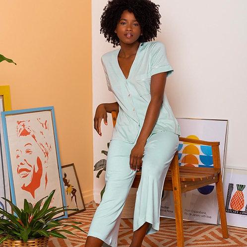 Conjunto Pijama Pantacourt Relax
