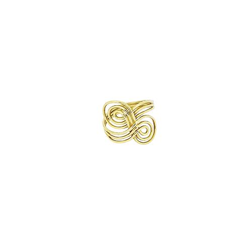 Anel de Ouro Amarelo 18k Vazado