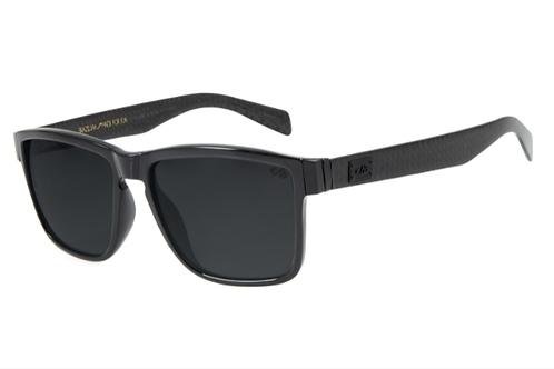 Óculos de Sol Masculino Chilli Beans Essential Quadrado Preto Brilho