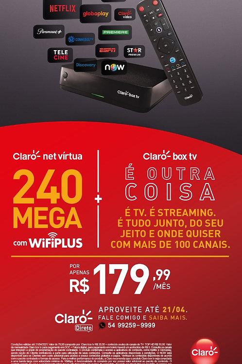Plano Internet 240MB + Box TV