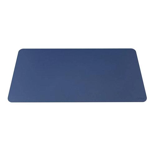 Desk Pad em Couro Ecológico Azul
