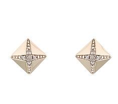 Brincos Prismas HStern de Ouro Nobre 18K Com Diamantes