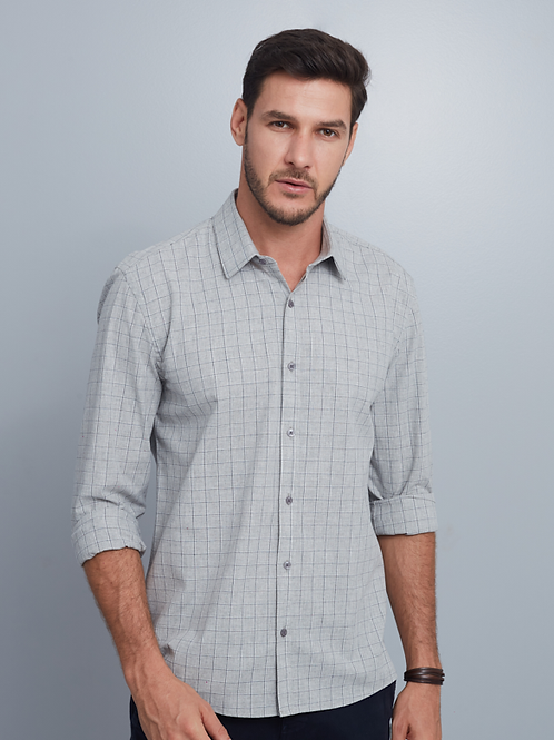 Camisa Business Slim Masculina Xadrez