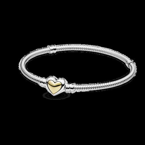 Bracelete Coração Com Ouro 14k