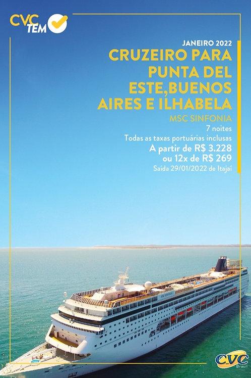 Cruzeiro Para Punta Del Este, Buenos Aires e Ilhabela