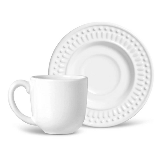 Xícara de Café Roma Branco 75ml Porto Brasil