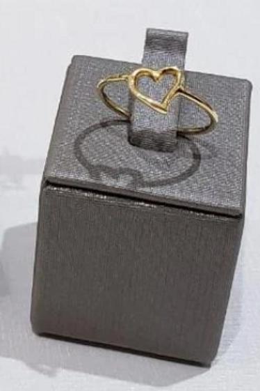 Anel de Coração Com Pérola 18k