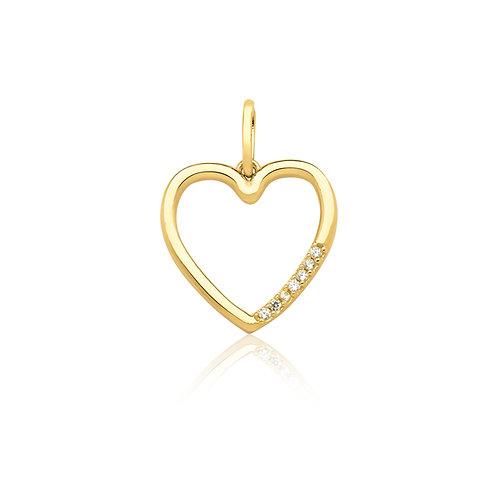 Pingente Coração Ouro 10k