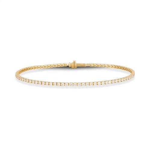 Pulseira Riviera 1,5pts Ouro Amarelo 18k e Diamantes