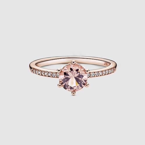 Anel Solitário Coroa Signature Pandora Rosé