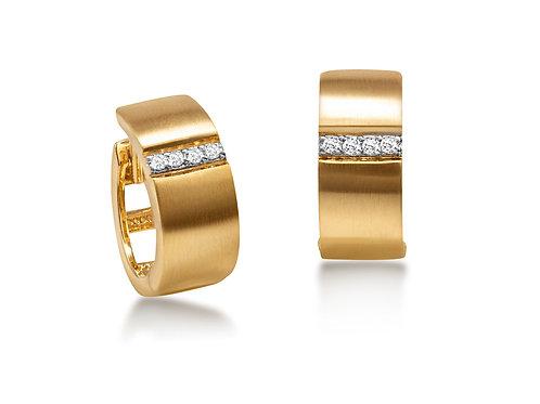 Brinco Argola de Ouro 18k Com Diamantes