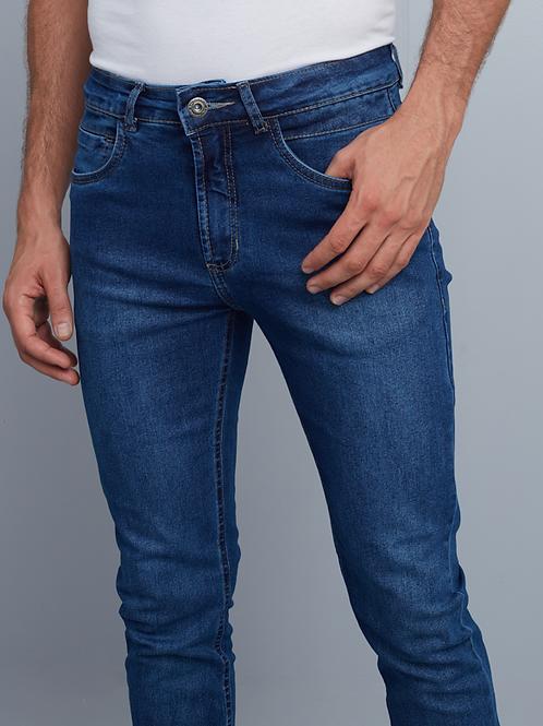 Calça Jeans Slim Masculina Azul Escuro