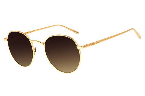 Óculos de Sol Unissex Chilli Beans Banhado a Ouro Dourado