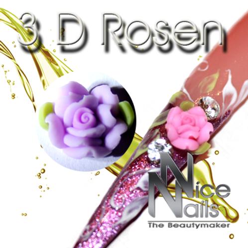 3D Rose Lila