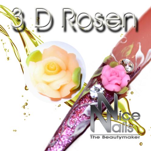 3D Rose Aprikot
