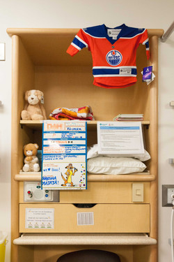 a baby's shelf for personal things
