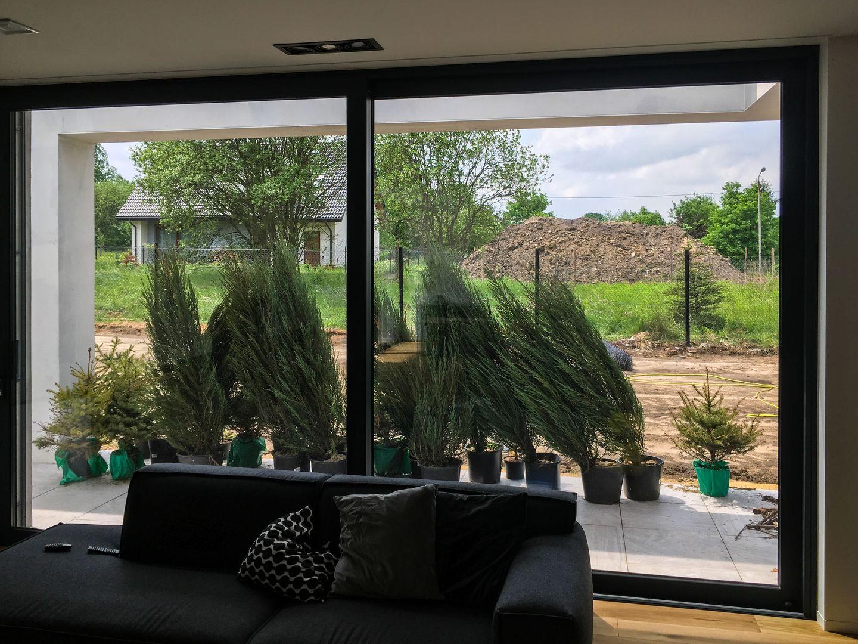 drzwi okno aluminiowe tarasowe podnoszono przesuwne HS HST z niskim progiem producent aluminium okno