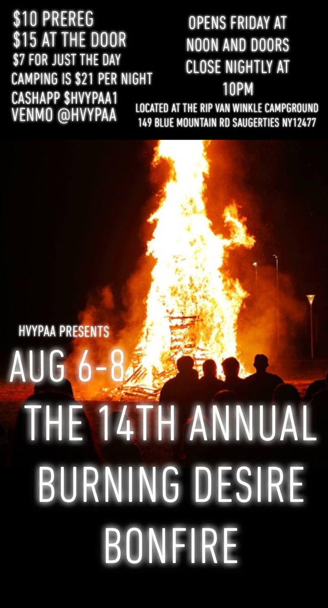 Burning Desire Bonfire 2021!! Click flyer for Eventbrite info and pre-reg!