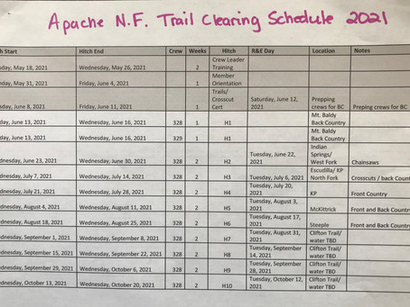 Apache NF Trail Clearing Schedule