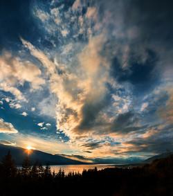 Arrow Lakes Sunset - Nakusp, BC