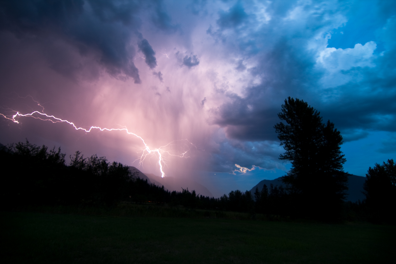 Lightning Strikes - Nakusp, BC