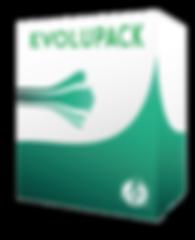 Visuel Evolupack création de logo et PAO tout en un