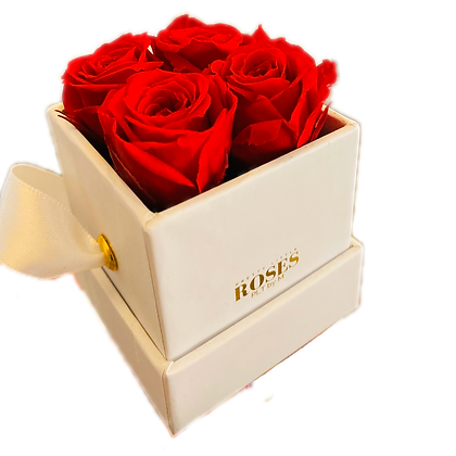 mini flower in personalized box with roses