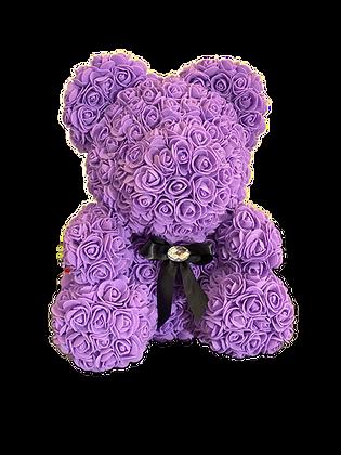 Flower Foam Bear - Purple
