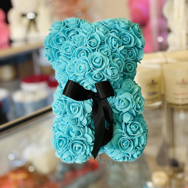 Thumbnail: Small Flower Bear - Turquoise