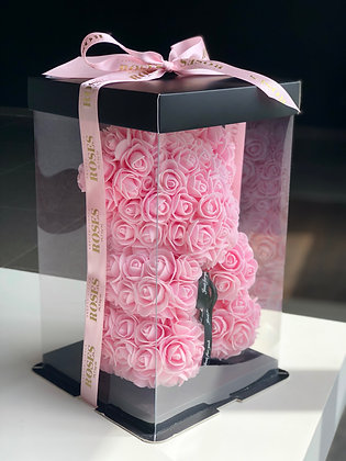 Small Flower Foam Bear - LIGHT Pink