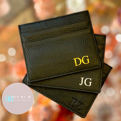Leather Cardholder - 6 colors - Add Your Initials