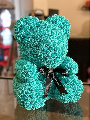 Flower Foam Bear - Tiffany Blue