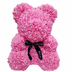 Floral Foam Bear - All Pink