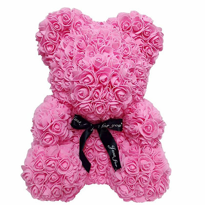 Floral Foam Bear - All Pink