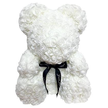 Flower Foam Bear - Pure White