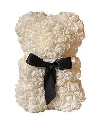 Small Flower Foam bear - White