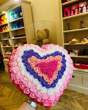 30cm Foam Flower Heart