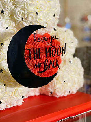 Special Red Box Design - Love you to the moon and back ⭐️ Choose Color Bear