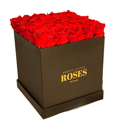 Deluxe Square Black - Choose Color Roses