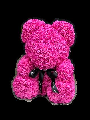 Flower Foam Bear - Hot Pink