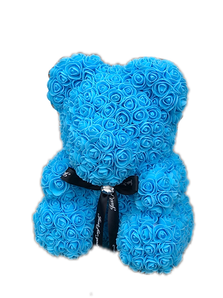 Flower Foam Bear - Light Blue