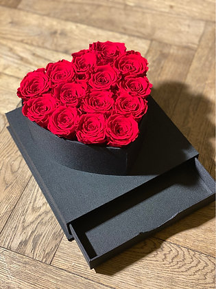 Heart Flowerbox with Cover (Rose Color of your choice)