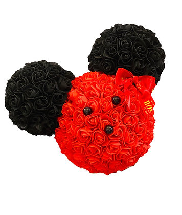 MINNIE MOUSE BOX - Red with Black ears